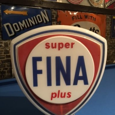 Fina Super Plus Petrol Pump Globe