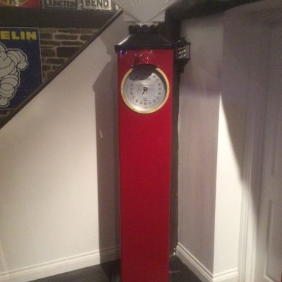 Restored Avery Hardoll Round Clock Face Petrol Pump