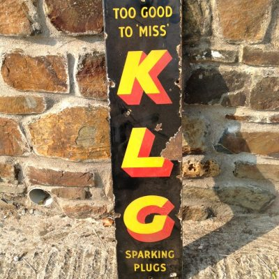 """Too Good To Miss"" KLG Enamel Sign"