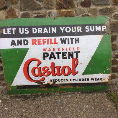 Castrol Let us drain your sump Sign