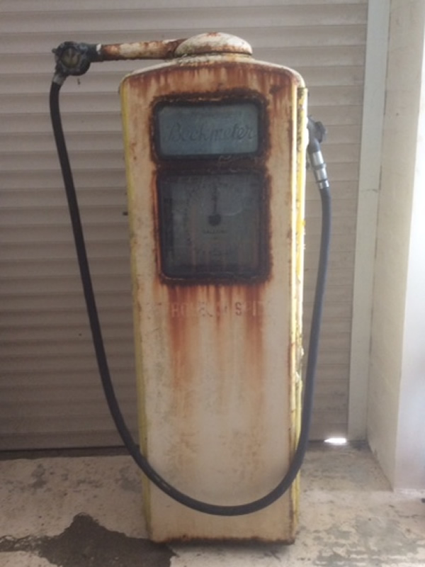 Unrestored Beckmeter Petrol Pump