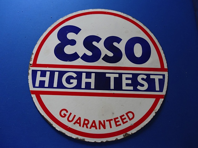Esso High Test Enamel Sign