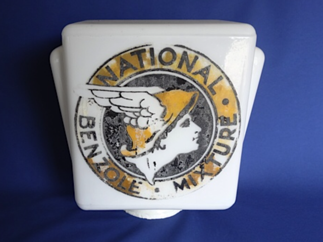 National Benzole Mixture Petrol Pump Globe