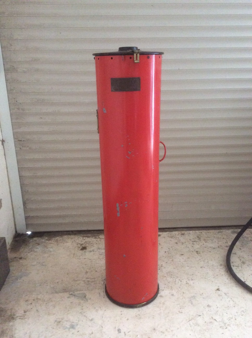 Unrestored Godwin Cylinder Petrol Pump