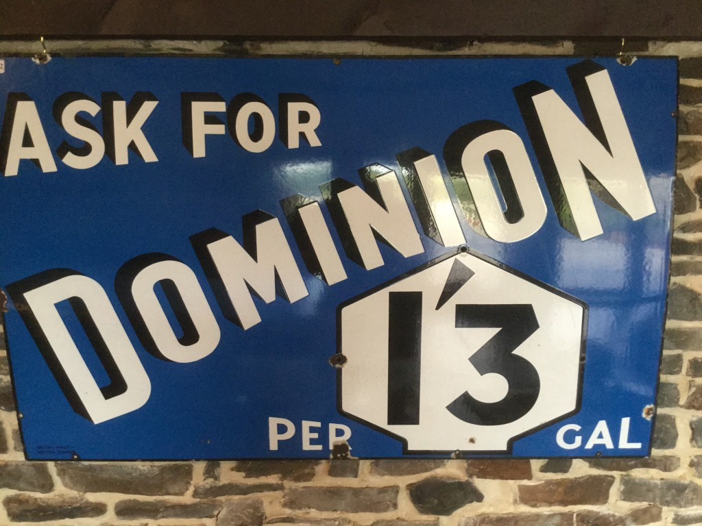 Ask For Dominion 1'3 Per Gal Sign