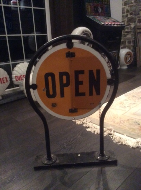 National Benzole Open Closed Sign