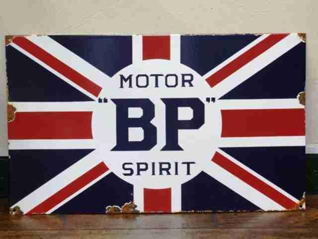 BP Motor Spirit Enamel Sign