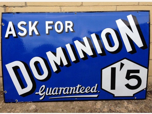 Ask For Dominion 15 Guaranteed Sign