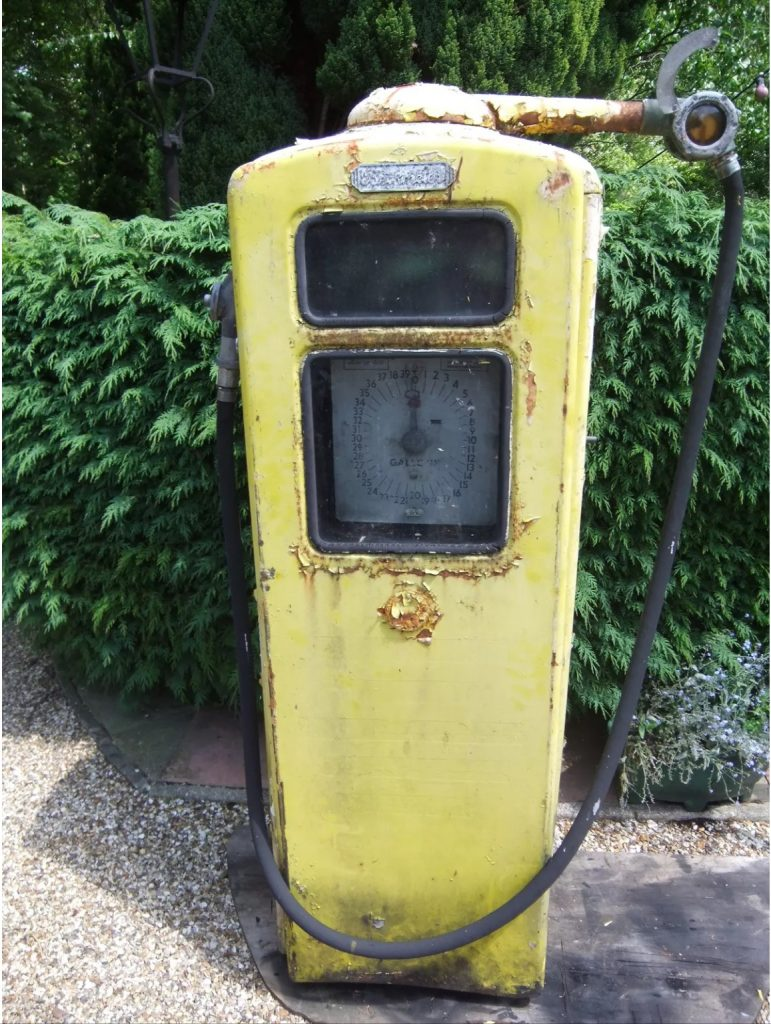 Vintage Beckmeter Petrol Pump