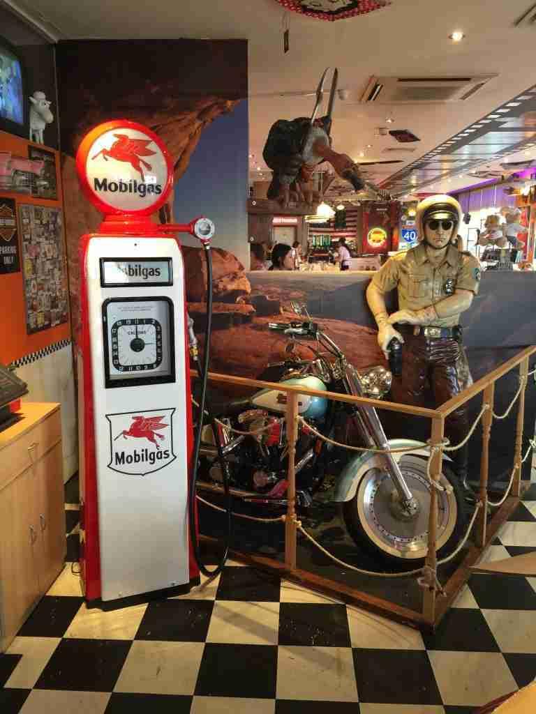 UK Restoration's Restored Avery Hardoll 101 Petrol Pump at JB's Diner Brighton