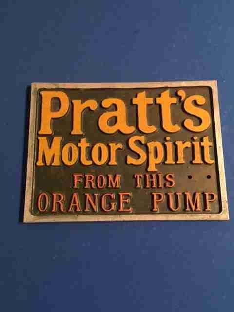 Pratts Petrol Pump Sign
