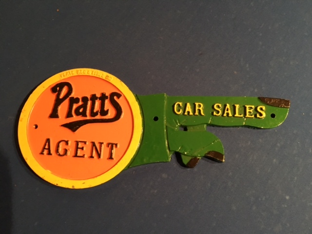 Pratts Agent Car Sales Sign