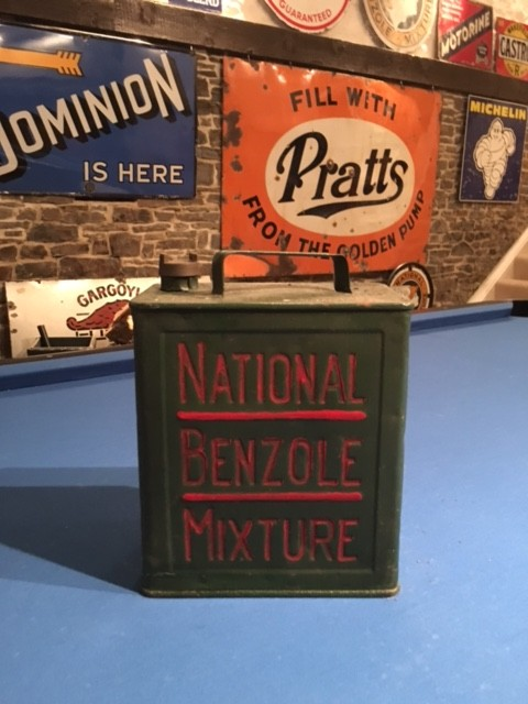 National Benzole Mixture Petrol Can