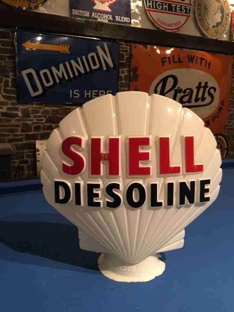 Shell Diesoline Petrol Pump Globe