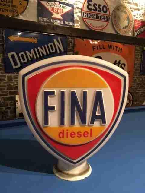 Fina Diesel Petrol Pump Globe