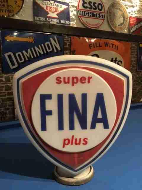 Fina Super Plus Petrol Pump Globe