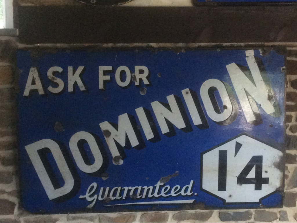 Ask For Dominion 1'4 Guaranteed Sign