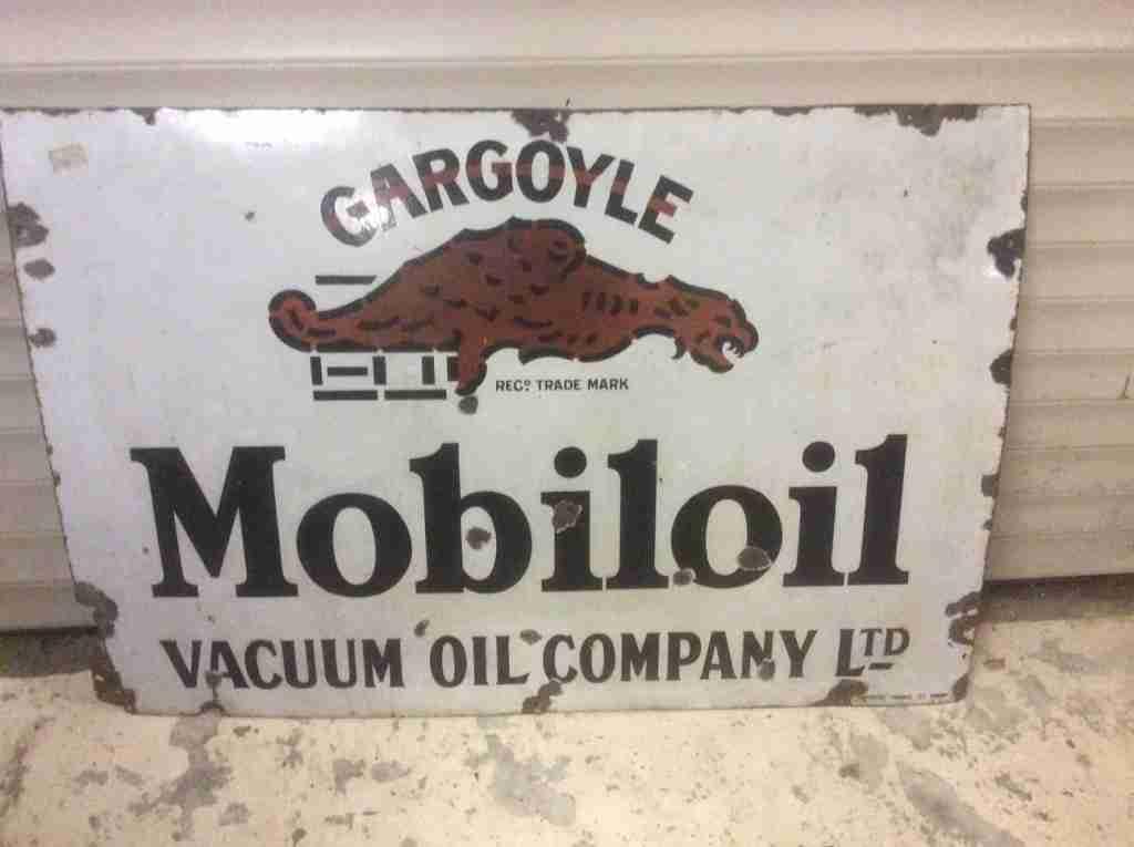 Gargoyle Mobiloil Vacuum Oil Company LTD Sign