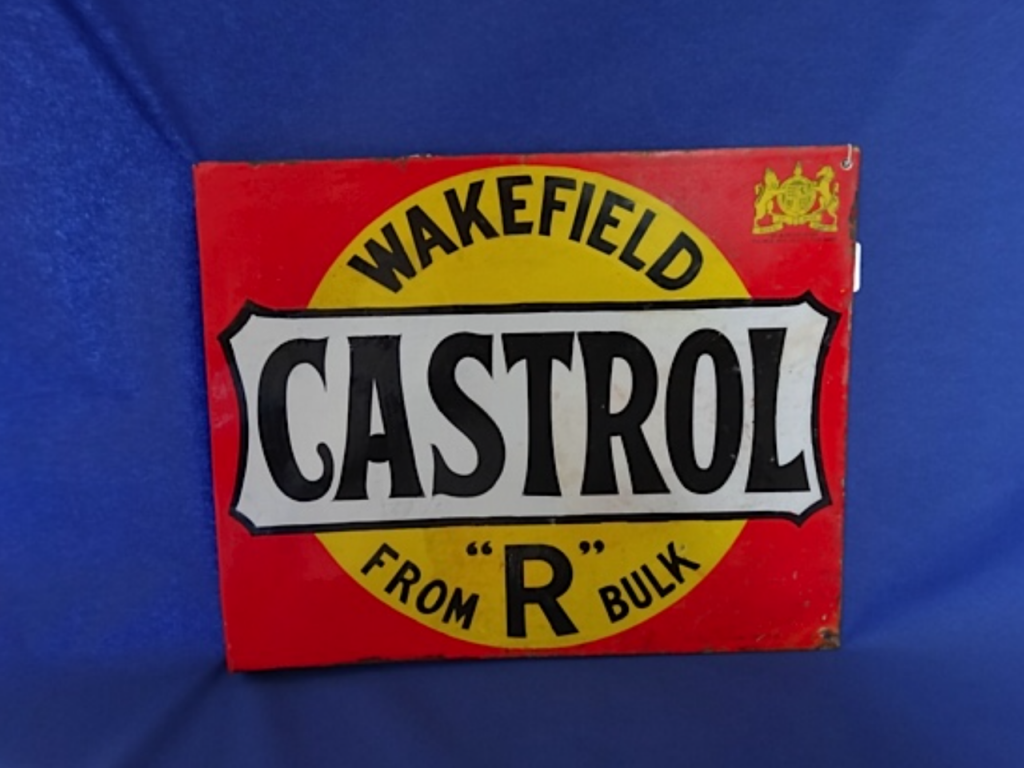 Wakefield Castrol R Bulk Enamel Sign