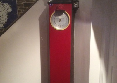 Restored Avery Hardoll Round Clock Face Petrol Pump