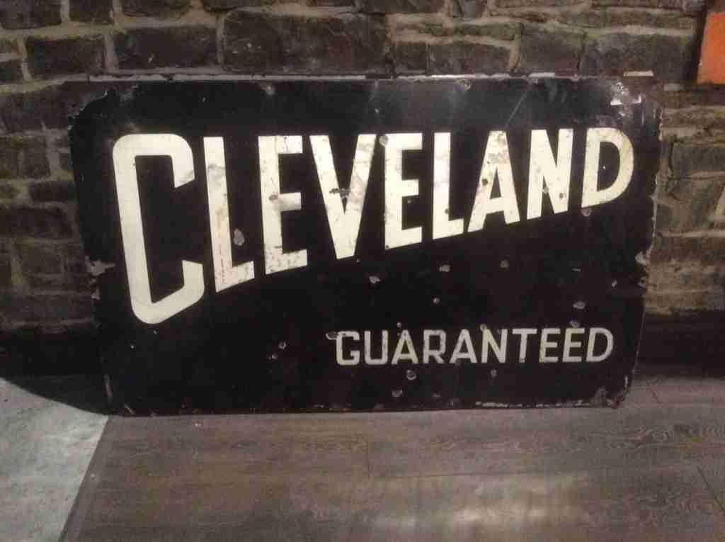 Cleveland Guaranteed Enamel Sign