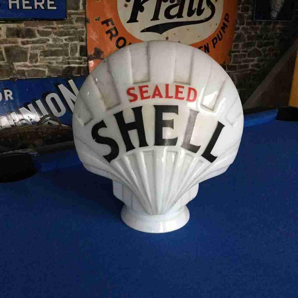 Sealed Shell Petrol Pump Globe