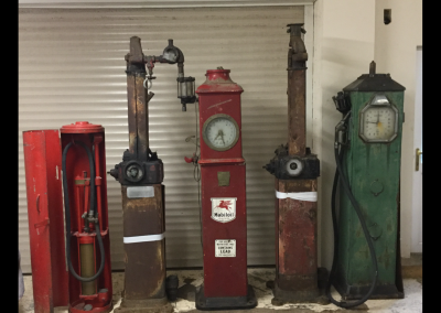Selection of unrestored Petrol Pumps