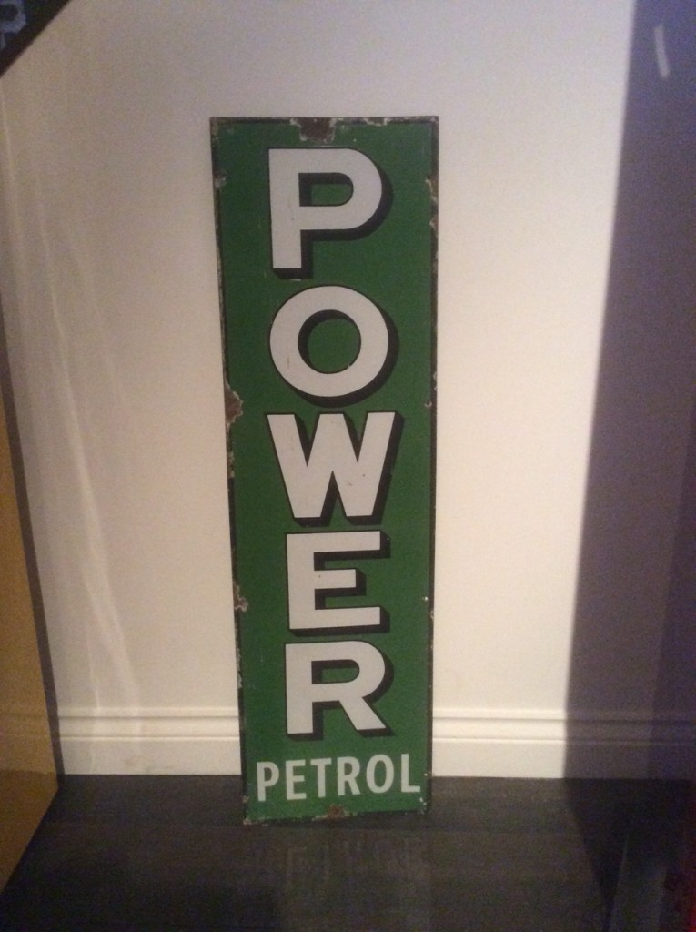 Power Enamel Sign
