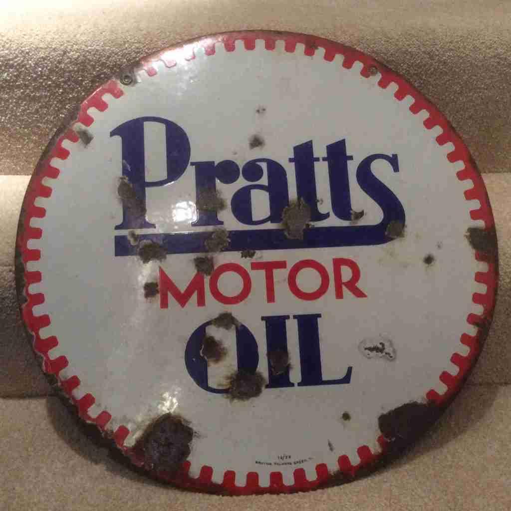 Pratts Motor Oil Sign