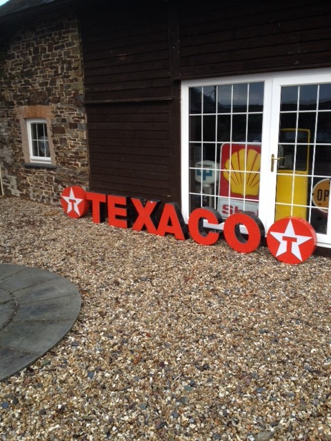 Rare Texaco Forecourt Garage Sign