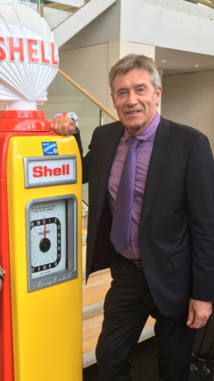 Tiff  Needell with Avery Hardoll 101 in Shell Livery