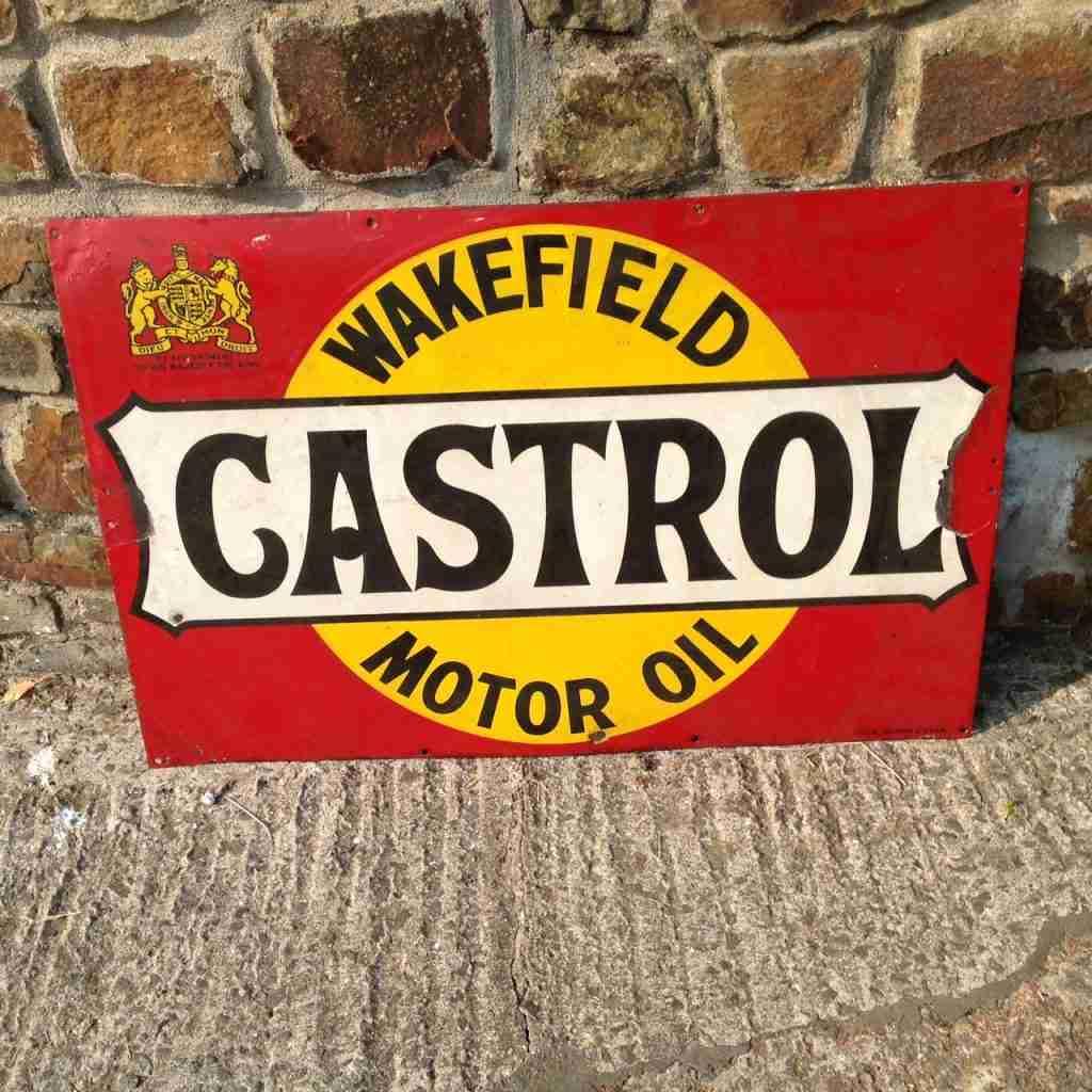 Castrol Wakefield Motor Oil Enamel Sign