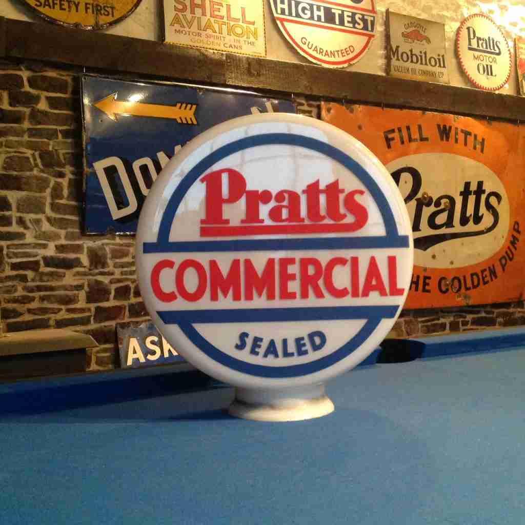 Pratts Commercial Petrol Pump Globe