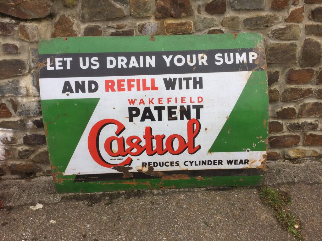 Castrol Let us drain your sump Sign