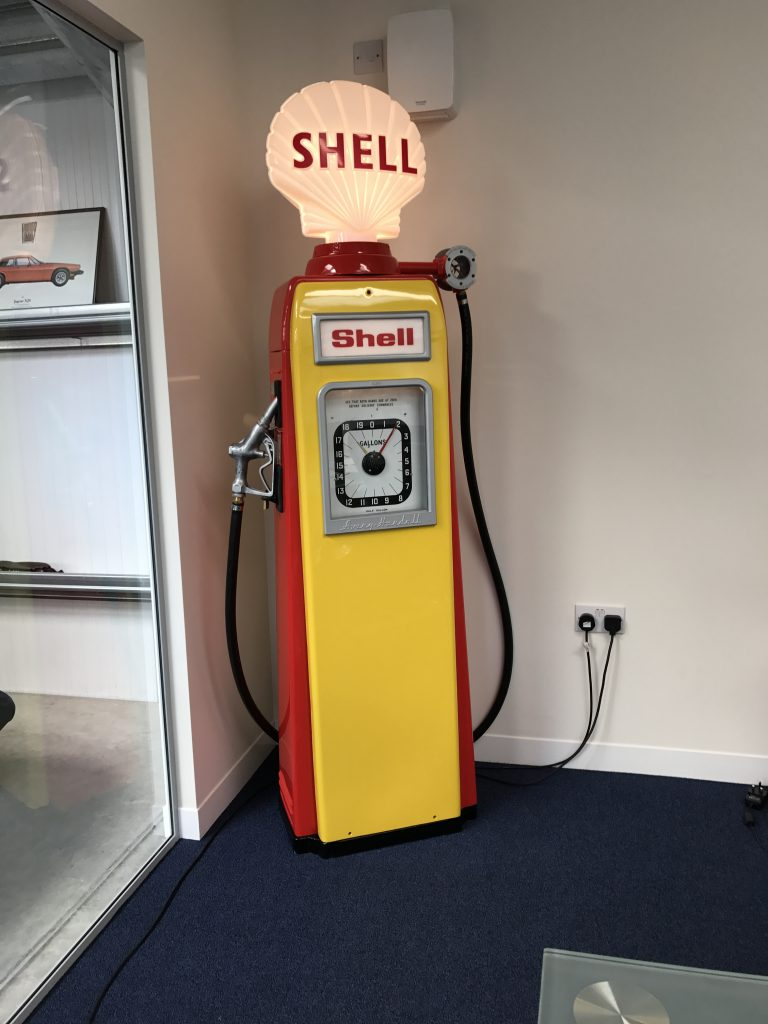 UK Restoration's Avery Hardoll 101 Petrol Pump in Shell Livery
