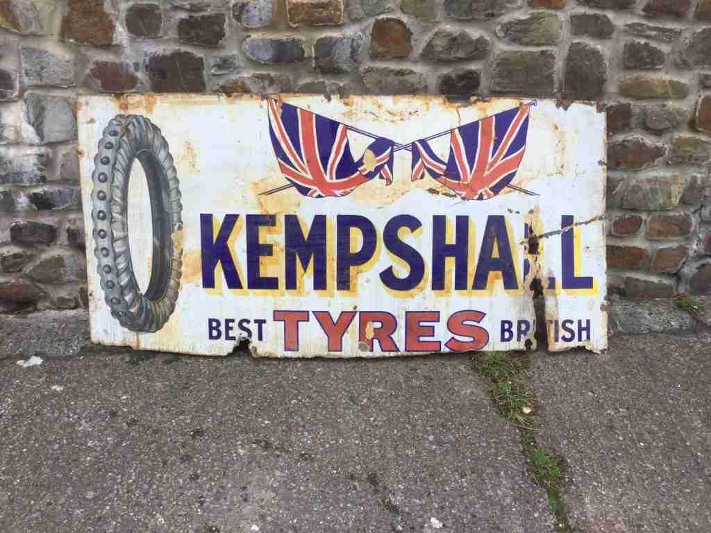 Kempshall enamel sign