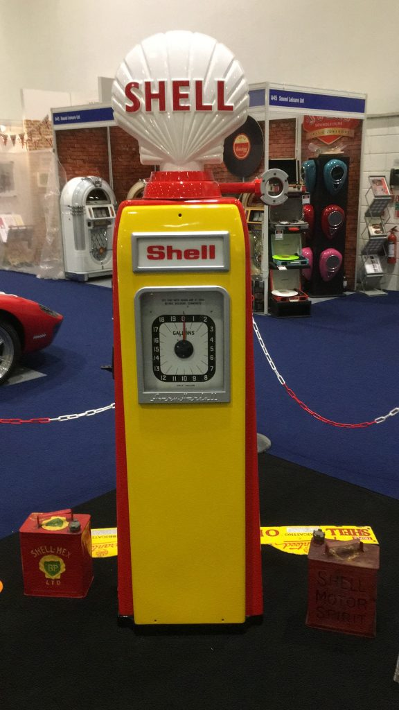UK Restoration's Avery Hardoll 101 Petrol Pump in Shell Livery