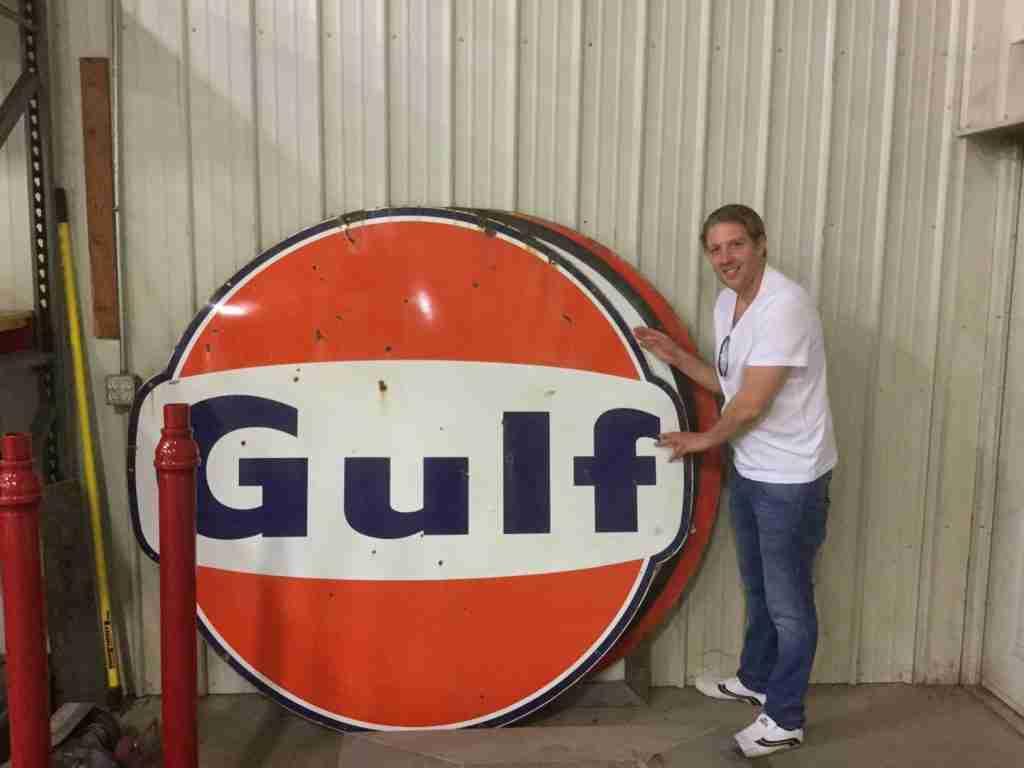 6ft Gulf Enamel Sign