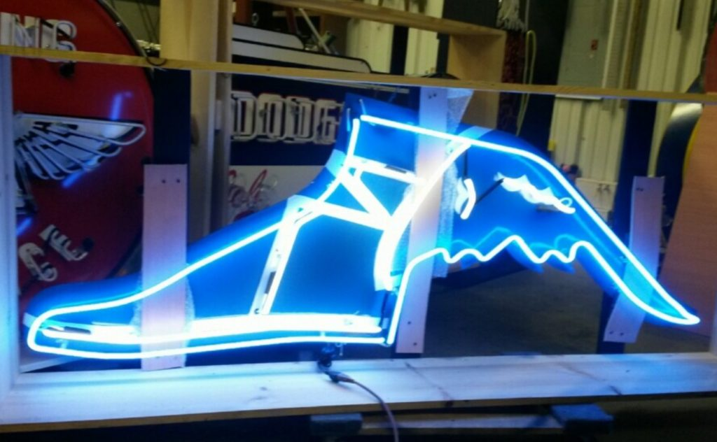 "78"" Goodyear Shoe Neon Sign"
