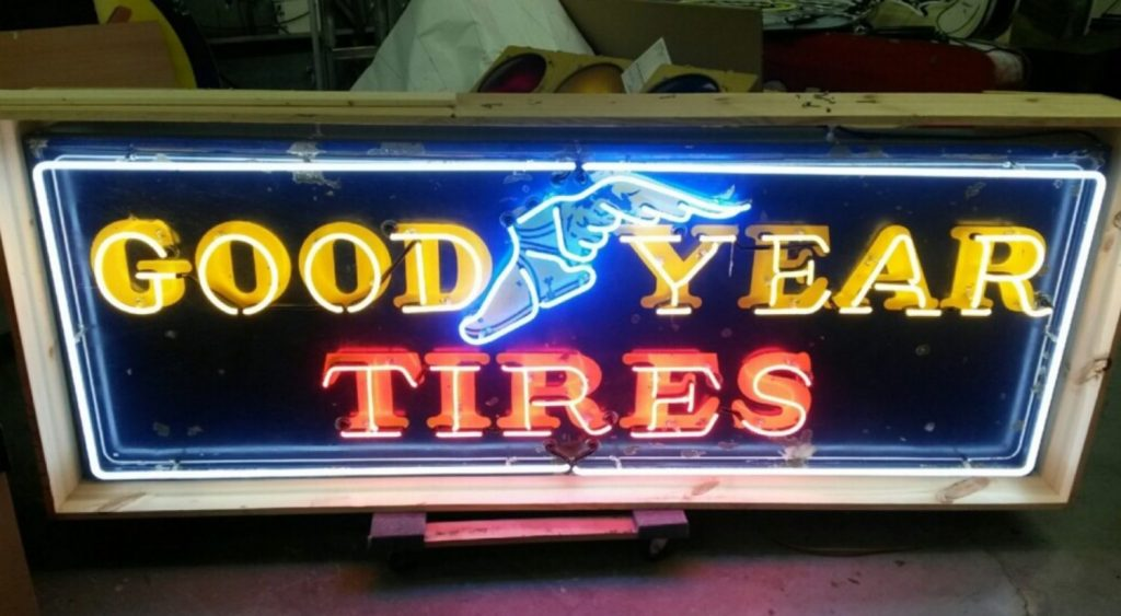 """84"""" Goodyear Tires Neon Sign"""
