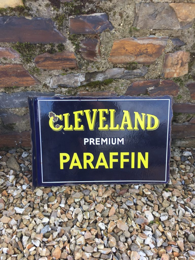 Cleveland Paraffin Enamel Sign
