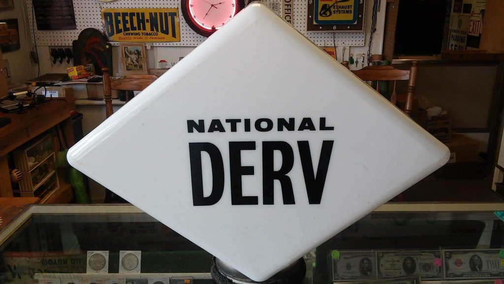 National Derv Petrol Pump Globe