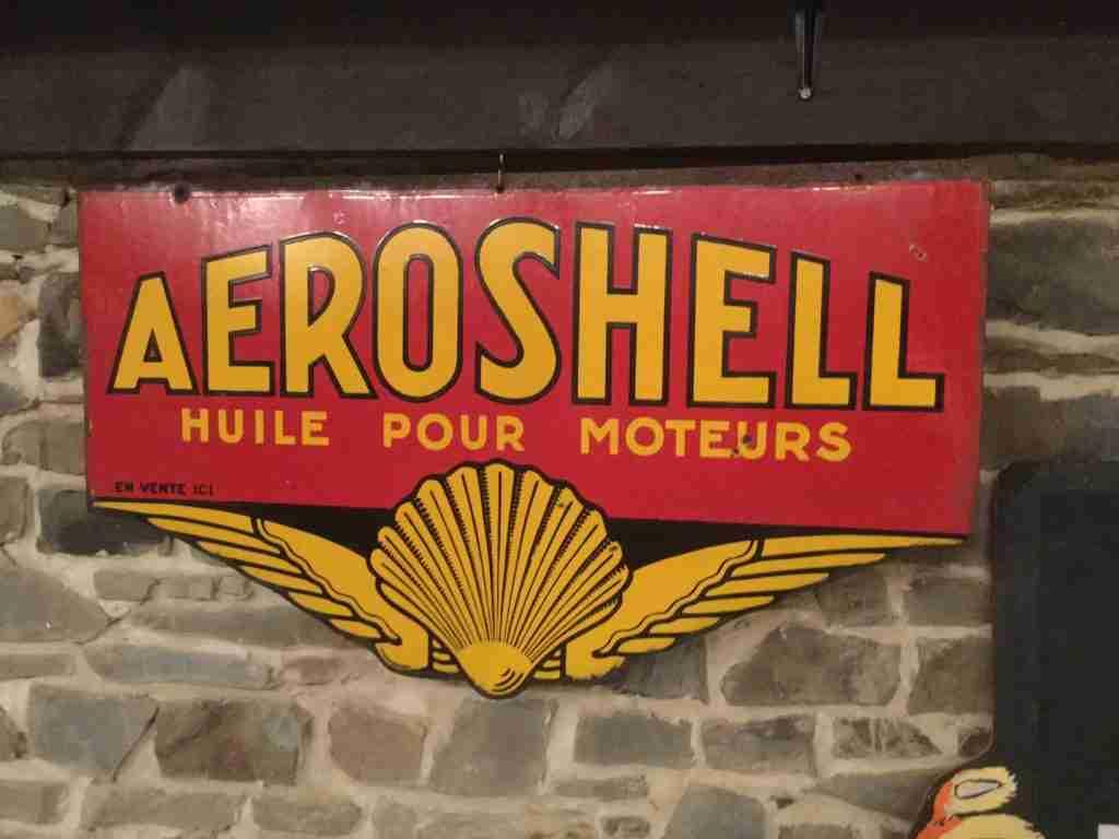 Rare Aeroshell Enamel Sign