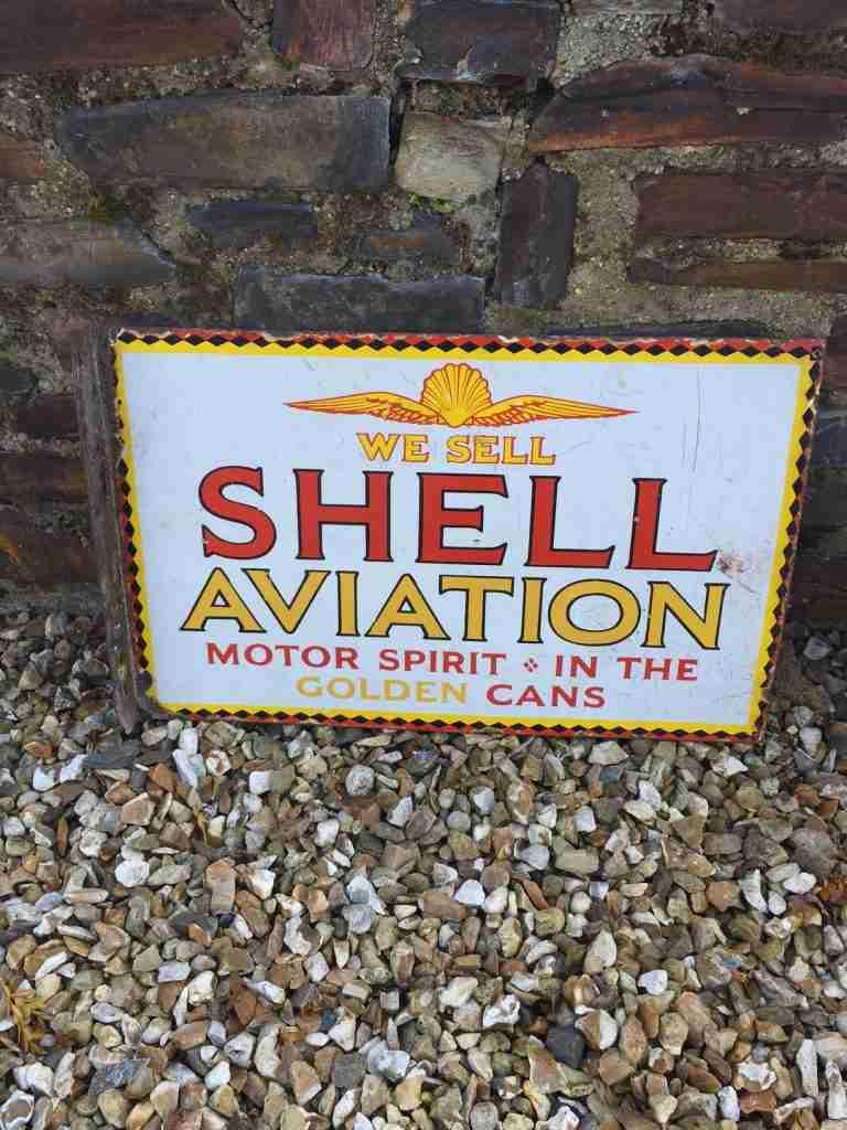 Shell Aviation Enamel Sign
