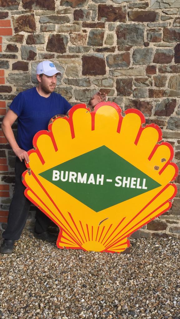 Shell Burma Enamel Sign