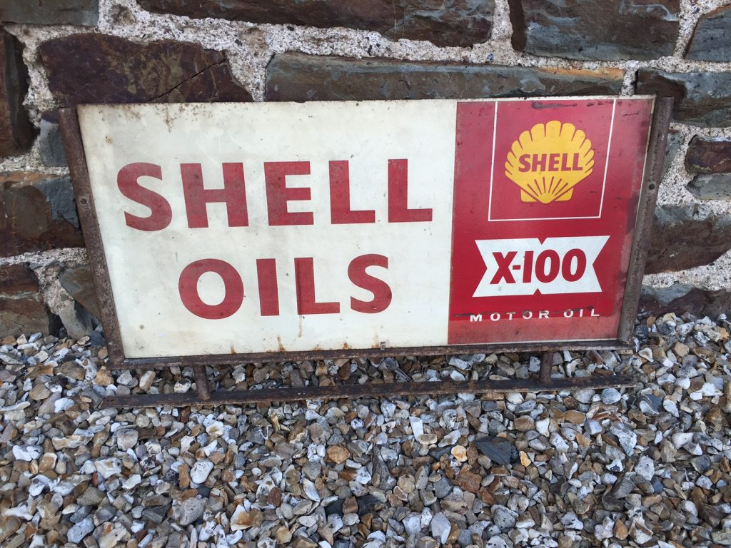 Shell Oils X100 Sign