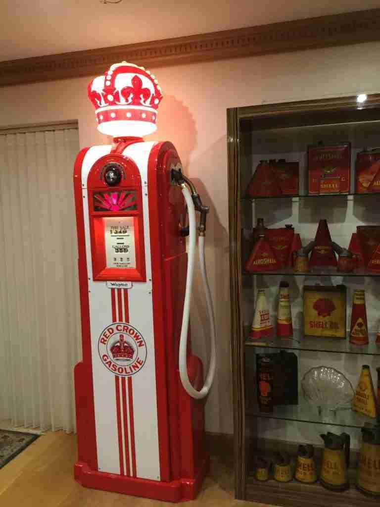 UK Restoration's Restored Wayne 60 Petrol Pump in Red Crown Gasoline Livery