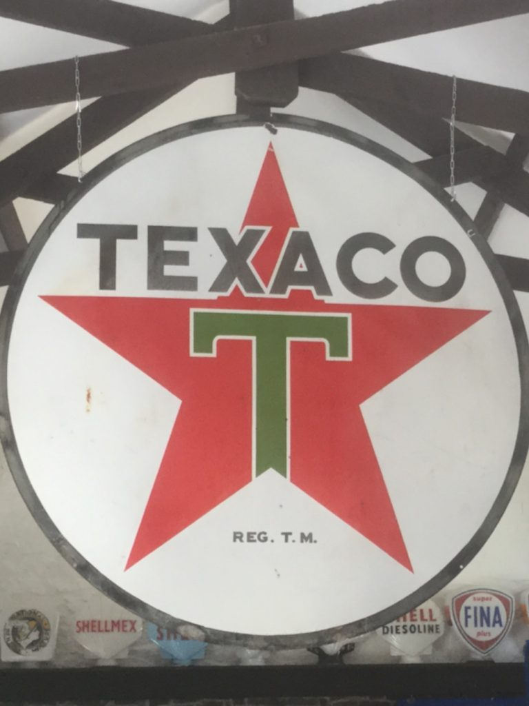 6ft Texaco Enamel Sign