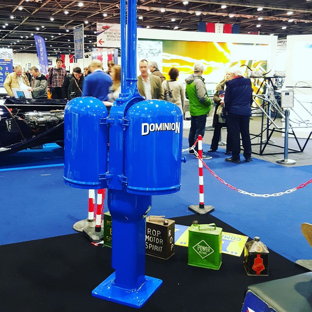 UK Restoration's Gilbert and Barker Restored Petrol Pump in Dominion Livery
