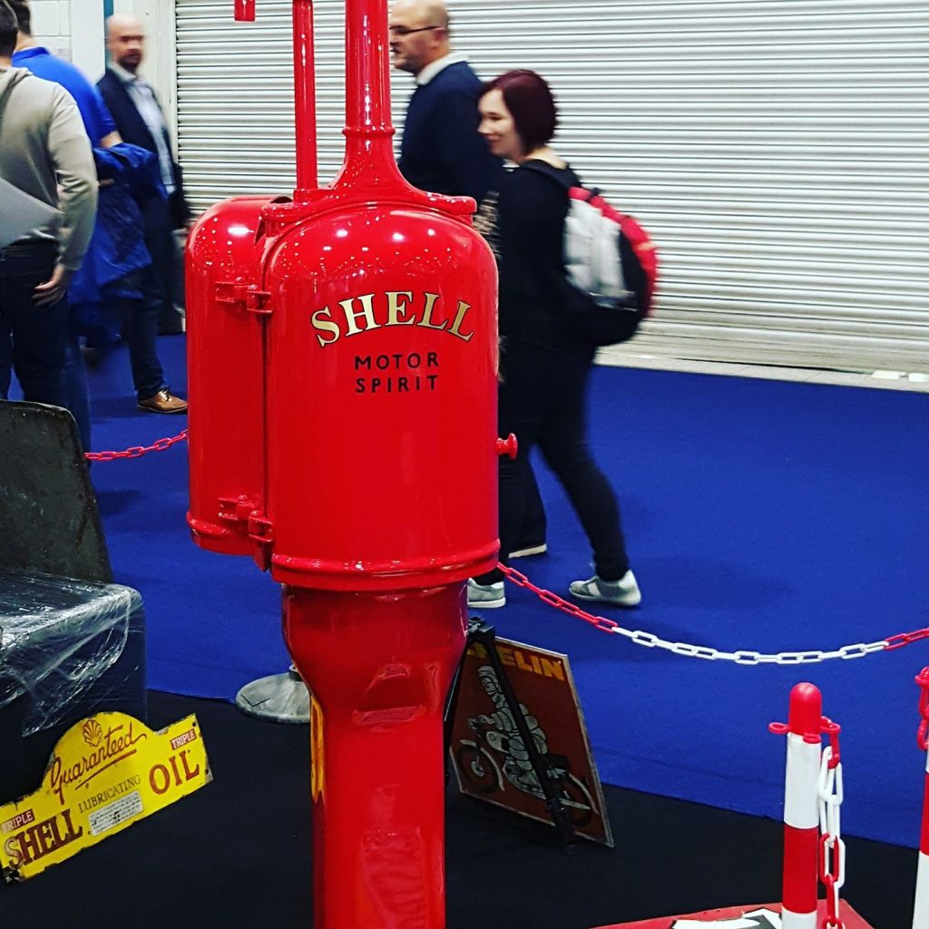 UK Restoration's Gilbert and Barker Restored Petrol Pump in Shell Livery